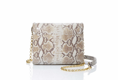 The Emlyn Crossbody/Clutch Bag in SnakeSkin Print