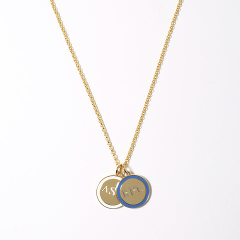 Mini Tag Necklace in White_Made in America