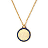 Monogram Tag Necklace in Navy