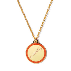 Monogram Tag Necklace in Poppy