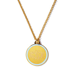 Monogram Tag Necklace in Sky