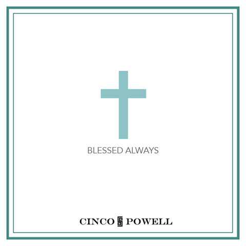 Cross_ Mini Tag Necklace_Blessed Always