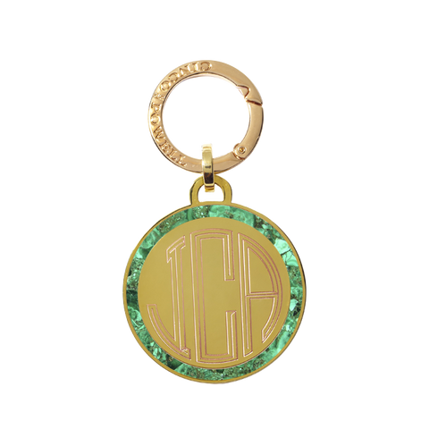 Classic Medallion Tag in Malachite