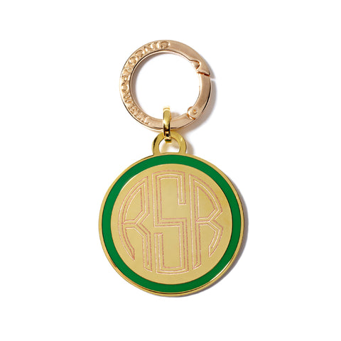 Classic Medallion Tag in Kelly Green