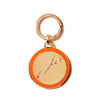 Classic Medallion Tag in Orange - Tennis Rackets