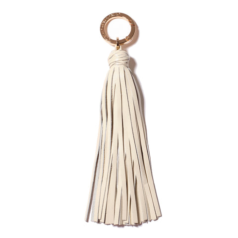 Classic Knot Tassel in Winter White