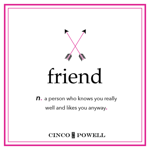 Crossed Arrows_Icono Mini Tag Necklace_Love and Friendship