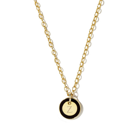 Mini Tag Necklace in Black_Made in America