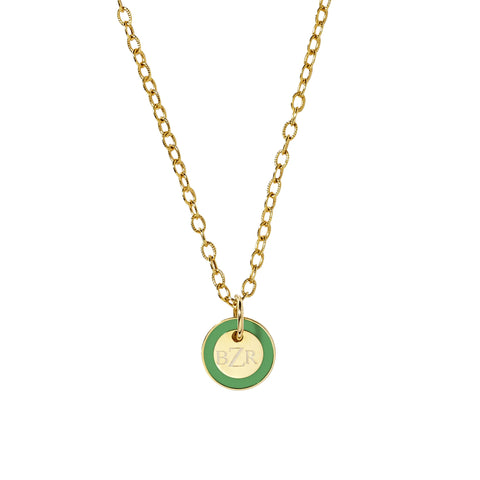 Mini Tag Necklace in Kelly Green_Made in America