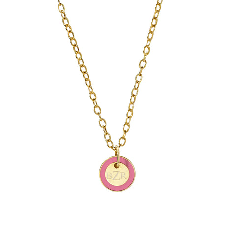 Mini Tag Charm in Pink Lemonade_Made in America