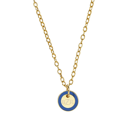Mini Tag Necklace in Princess Blue_Made in America
