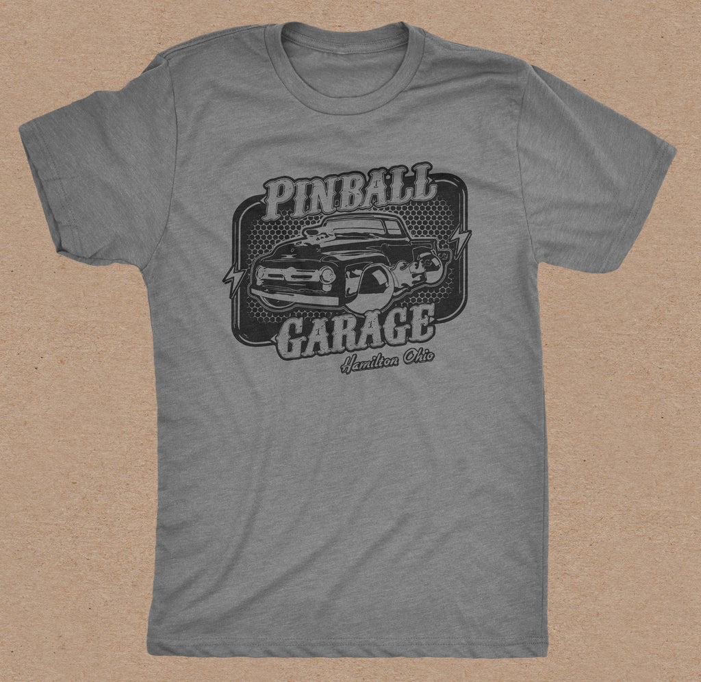 Pinball Garage T-Shirt (Gray)