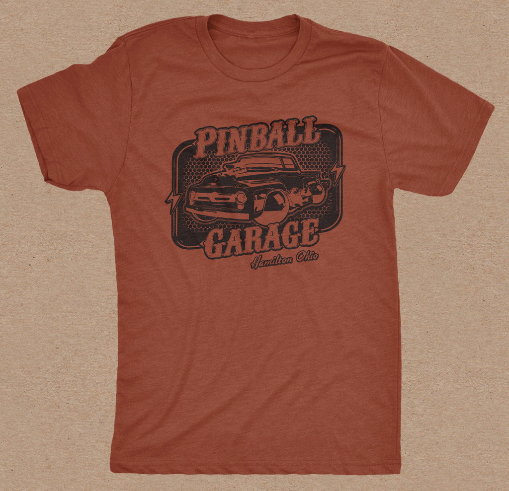 Pinball Garage T-Shirt (Rust)