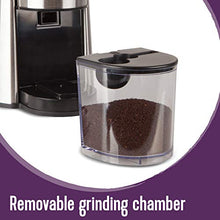Load image into Gallery viewer, Mr. Coffee Automatic Burr Mill Coffee Grinder with 18 Custom Grinders, Silver: