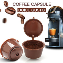 Load image into Gallery viewer, 1/3/4/5PCS coffee capsule nestle dolce gusto capsule nespresso refillable capsule coffee filter reusable cafe tool Fast delivery