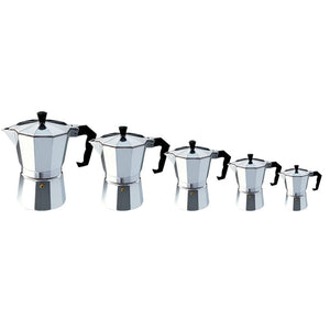 Aluminum Mocha Espresso Coffee Makers 5 Piece Set