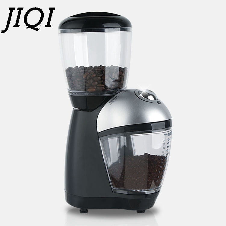 Italian Cafe Electric Coffee Burr Grinder