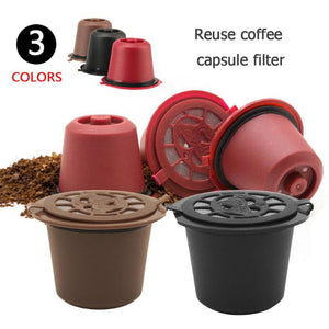 Reusable Nespresso Coffee Capsule With Plastic Spoon