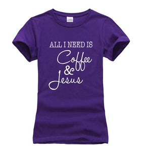 Women Coffee and Jesus T-shirt