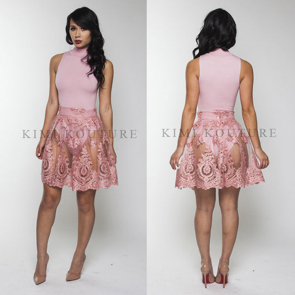 Lace Skirt Set