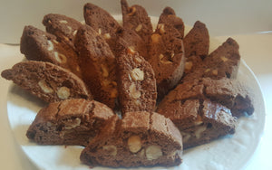 2 lbs Biscotti Cookies - 1 lb Chocolate Nut & 1 lb Almond Nut