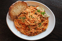 Load image into Gallery viewer, Cousin Greg - 1 jar of Marinara & 1 jar of Marfredo & 2 Angel Hair pasta