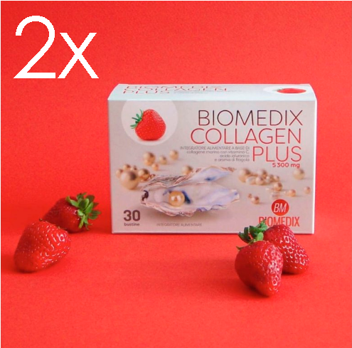 Nahrungsergänzungsmittel für gesunde Haut Biomedix Collagen Plus Strawberry 2 Months