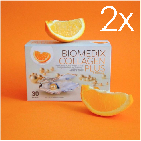 Nahrungsergänzungsmittel für gesunde Haut Biomedix Collagen Plus Orange 2 Monate