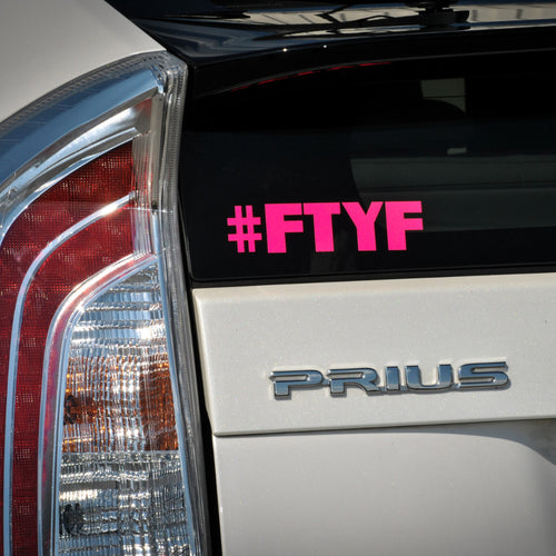 Pink Hashtag Decal