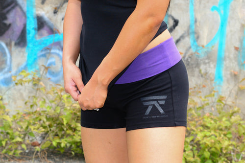 YOGA SHORTS (PURPLE)