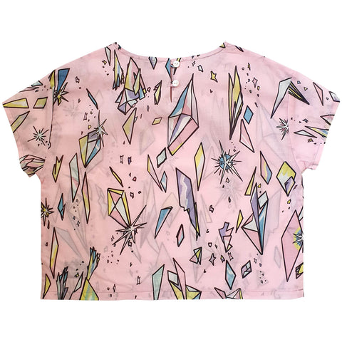 RAINBOW COSMOS SHORT SLEEVE BLOUSE
