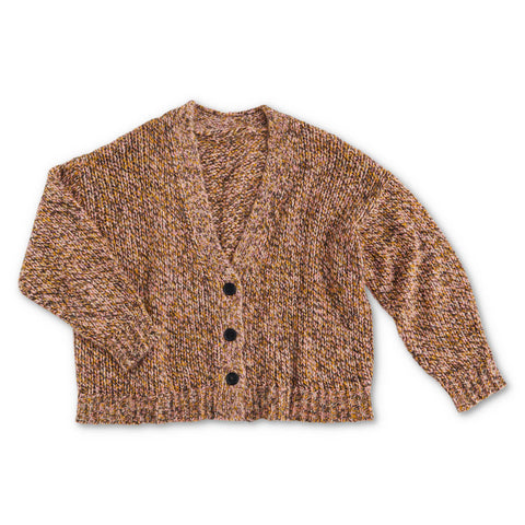 Dusk Til Dawn Melange Knitted Short Cardigan