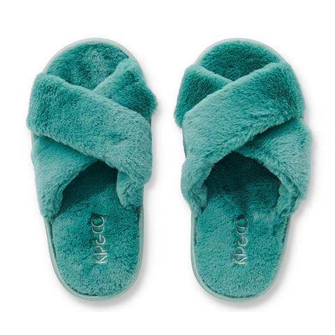 Jade Green Kids Slippers