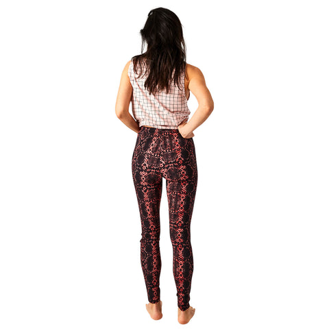 Serpent Black Leggings