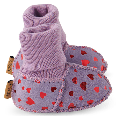 Big Love Lilac Baby Booties