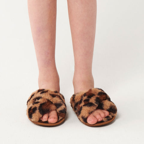 Cheetah Kids Slippers
