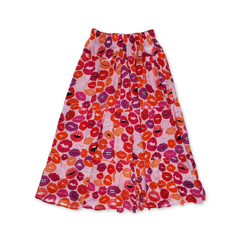 Pout Printed Long Skirt