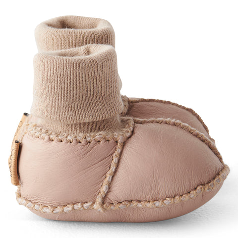 NATURAL ALMOND BABY BOOTIES