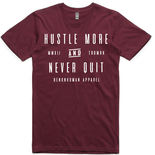 LW (Unisex) - Hustle More and Never Quit