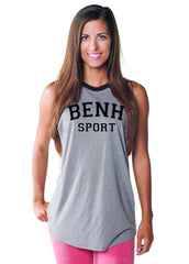 LW (Women's): BENH Sport Two Tone Muscle Tee