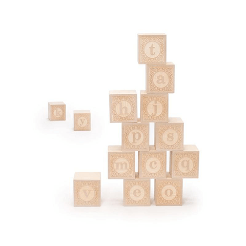 Alphablank Blocks - Lower Case Learning Toys Uncle Goose