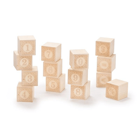 Alphablank Blocks - Numbers Learning Toys Uncle Goose