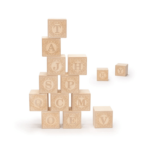 Alphablank Blocks - Upper Case Learning Toys Uncle Goose