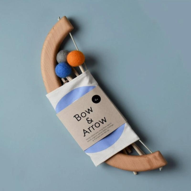 Bow & Arrow Set - Blue Wooden Toys Tangerine Toys