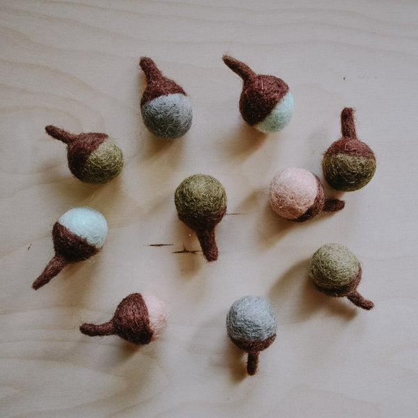 Felted Acorns The Wonder Cabinet