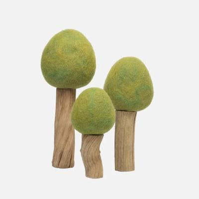 Felted Spring Trees - set of 3 Wooden Toys Papoose