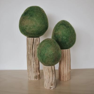 Felted Summer Trees - set of 3 Wooden Toys Papoose