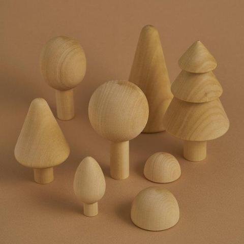 Forest Trees - Natural Set Wooden Toys Raduga Grez