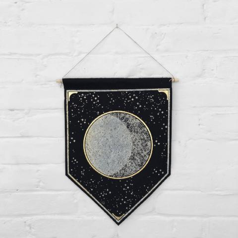 Moon Banner Home Decor The Rise and Fall
