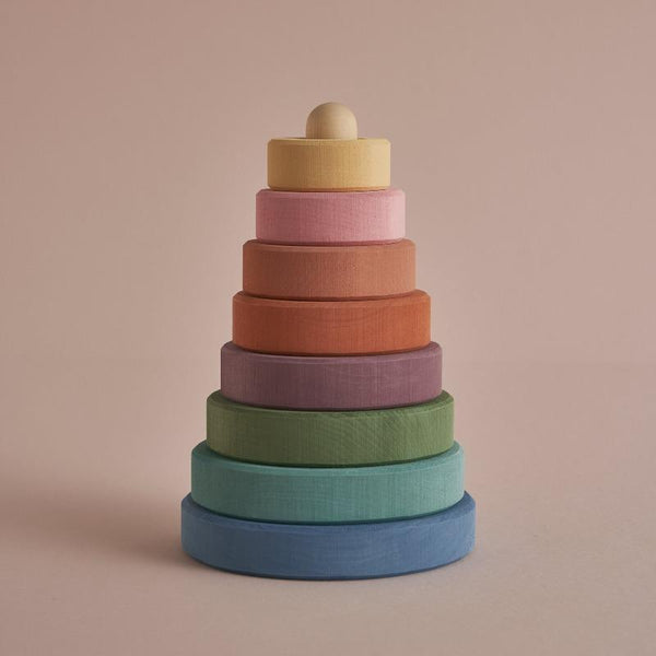 Pastel Earth Stacking Tower Wooden Toys Raduga Grez
